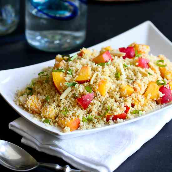 Couscous with Nectarines & Almonds