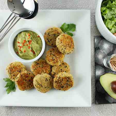 Red Lentil & Goat Cheese Croquettes