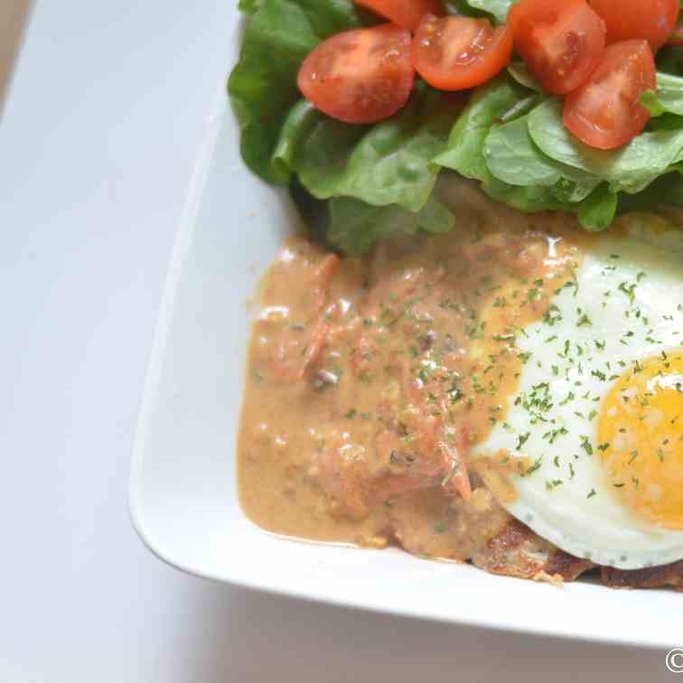 Korean-Style Hamburg Steak w Tomato Gravy