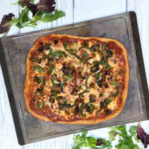 Works Pizza w-Whole Grain Spelt Crust