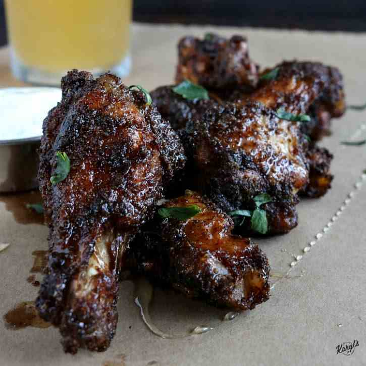Baked Spicy Honey Chicken Wings