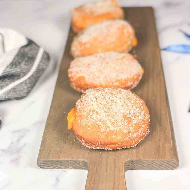 Cinnamon Donuts with Pumpkin Custard