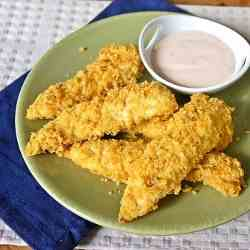 Frito Chicken Tenders with Buffalo Dip