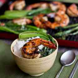 Grilled Chilli Garlic Prawns