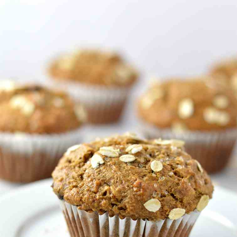 Whole Wheat Banana and Date Muffins