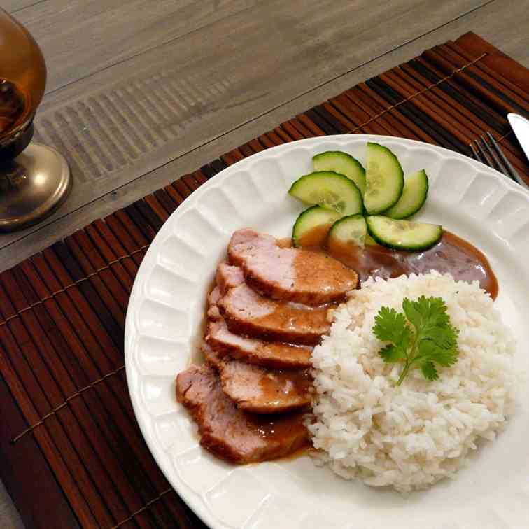 Roasted Red Pork with Rice