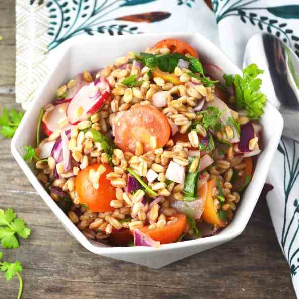 Farro Salad with Tomato and Herbs
