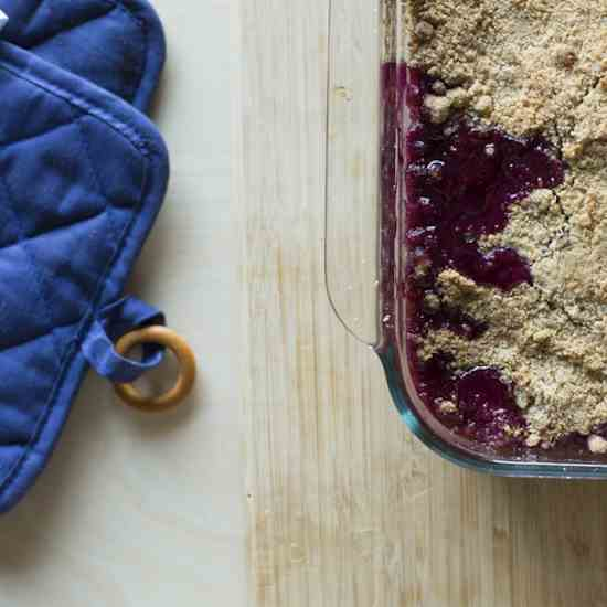 Blueberry Peach Crumble w- Whipped Ricotta