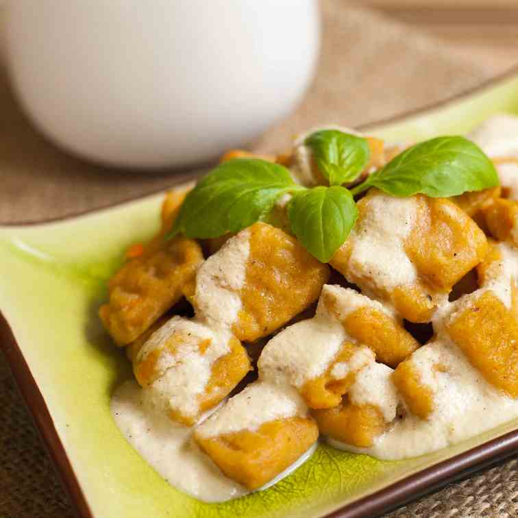 Sweet Potato Gnocchi Vegan and Gluten-free