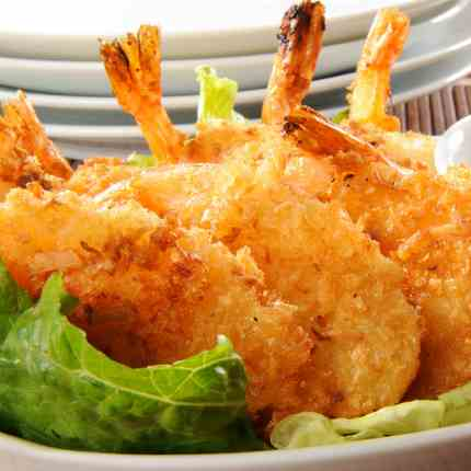 Crunchy Coconut Shrimp with Lime
