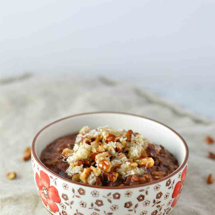 German Chocolate Cake Oatmeal