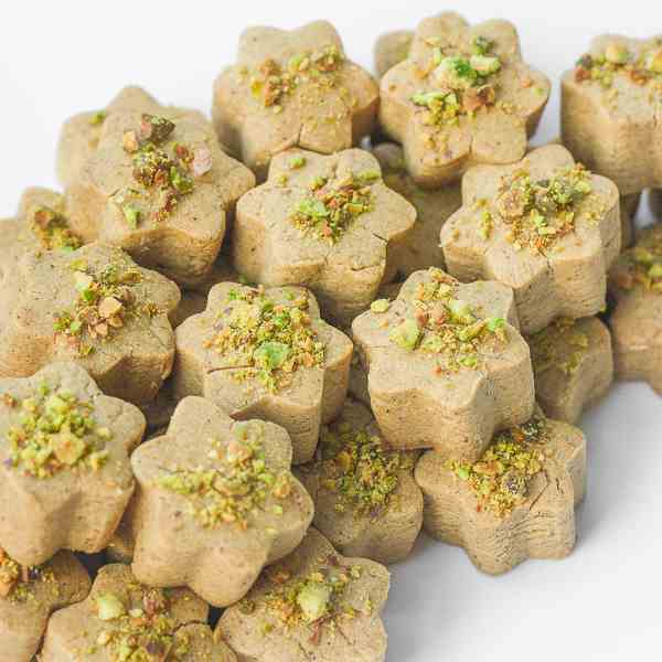 Persian Chickpea Cookies with Pistachio