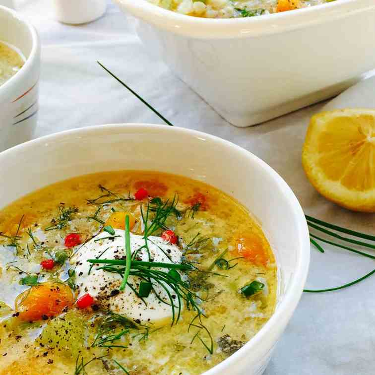 Creamy fish soup (chowder)