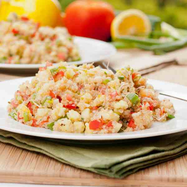 Quinoa Salad w Tomatoes, Cucumber and Alfa
