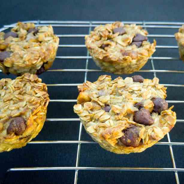 Chocolate Nut Oatmeal Muffins