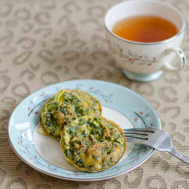 Kale and Chives Egg Muffins