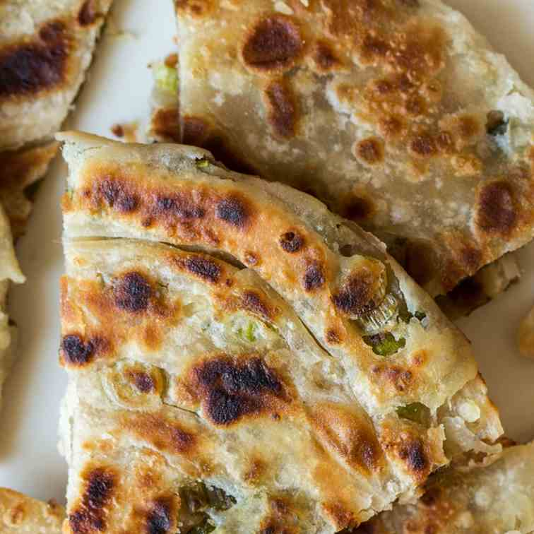Vegan scallion pancakes