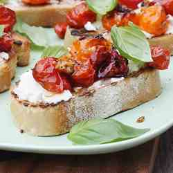 roasted tomato & ricotta bruschetta