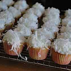 Coconut Cupcakes with Coconut Cream Cheese