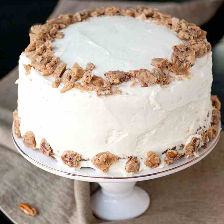 Pumpkin Praline PieCaken Layer Cake