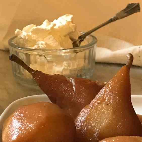 Easy Poached Pears with Marsala Wine