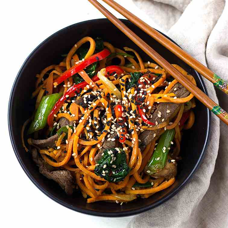 Korean Style Sweet Potato Noodles