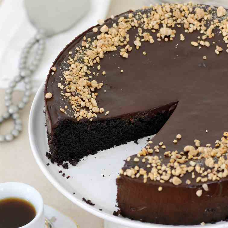 Almond and Olive Oil Chocolate Cake