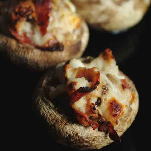 Presunto and Fig Stuffed Mushrooms