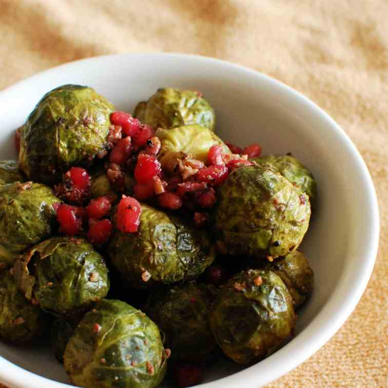 Roasted Pom Brussels Sprouts