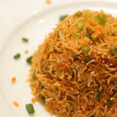 Vegetarian Fried Rice (Gujarati)