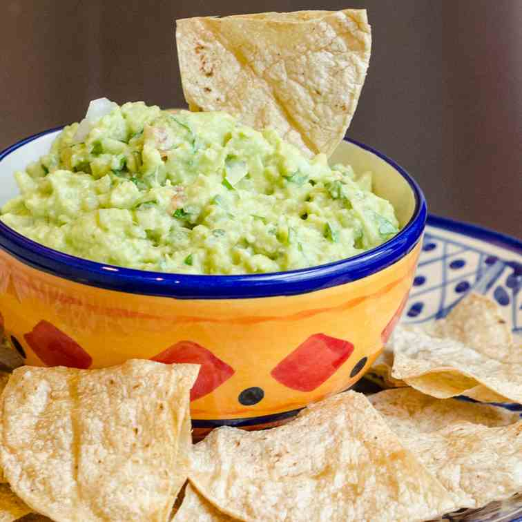 Guacamole and Oven Baked Chips