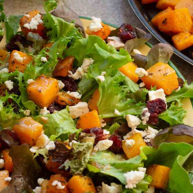 Roasted Butternut Squash Salad with Feta