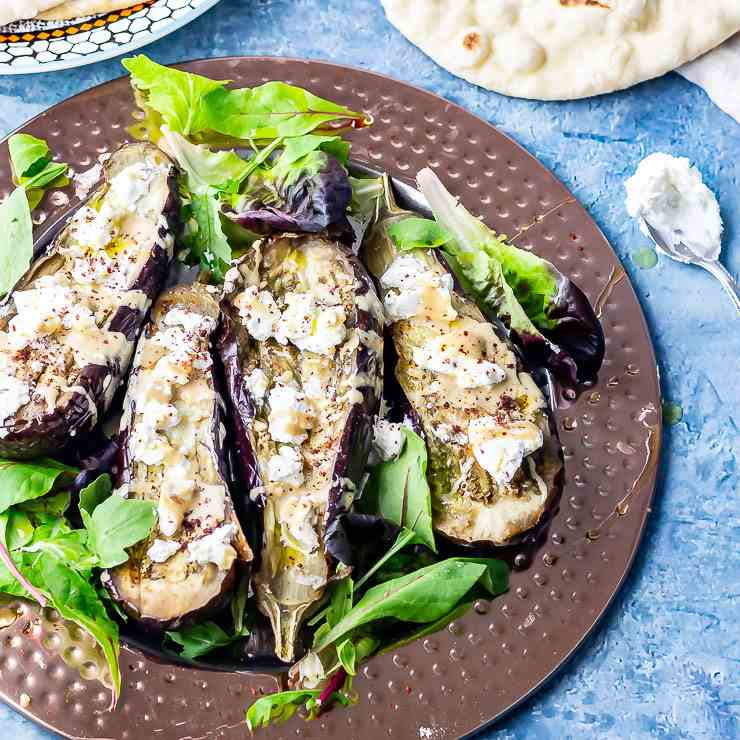 Baked Aubergine with Tahini