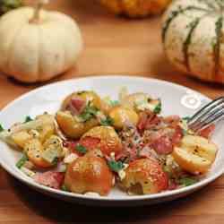Roasted Apples with Fennel & Prosciutto