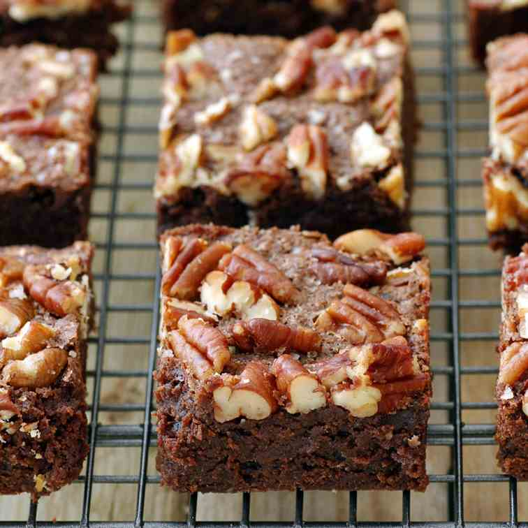 Pecan and Sea Salt Whole Wheat Brownies