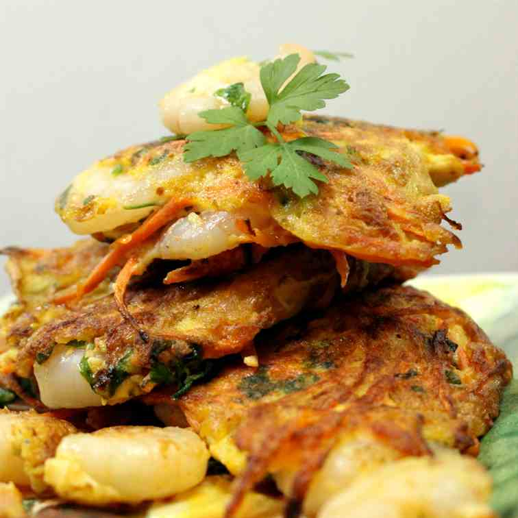 Carrot and Shrimp Patties