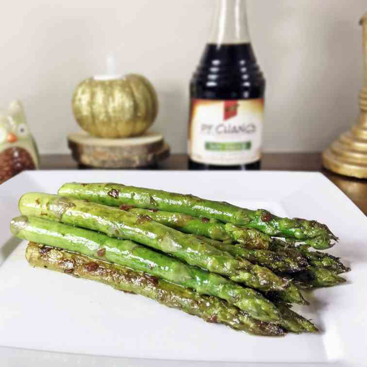 Pan Seared Asparagus With Soy Sauce