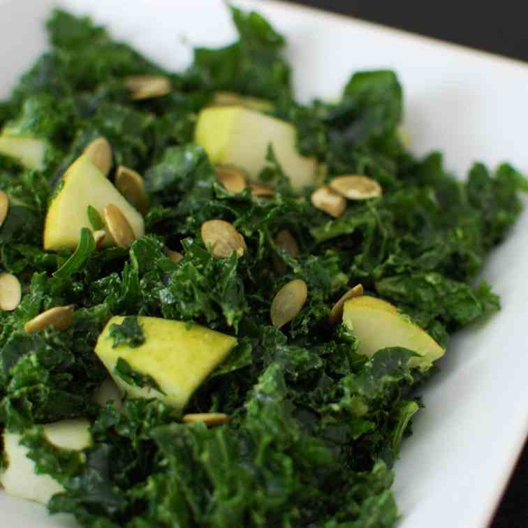 Massaged Kale Salad with Pears