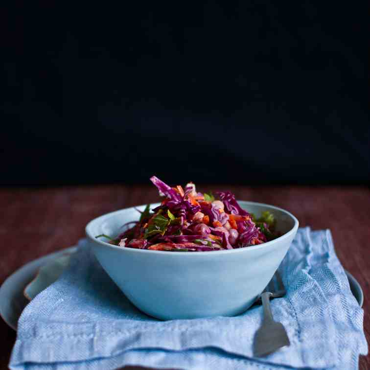 Red Cabbage, Chickpea - Dill Salad