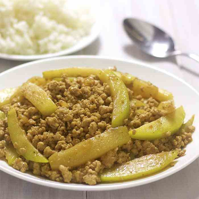 Ground Pork With Chayote