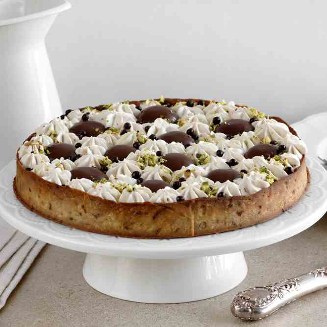 Coffee, Pistachio and Chocolate Pie