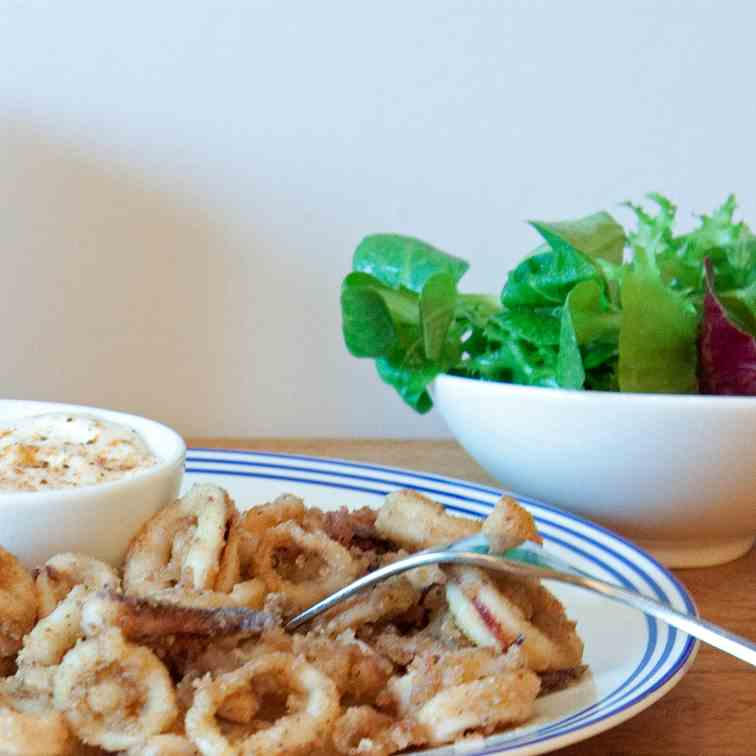 Old Bay Fried Squid