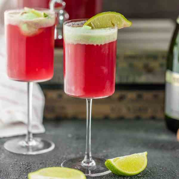 Cranberry Limeade Champagne Punch