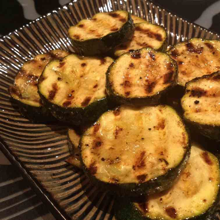Grilled Lemon Pepper Zucchini