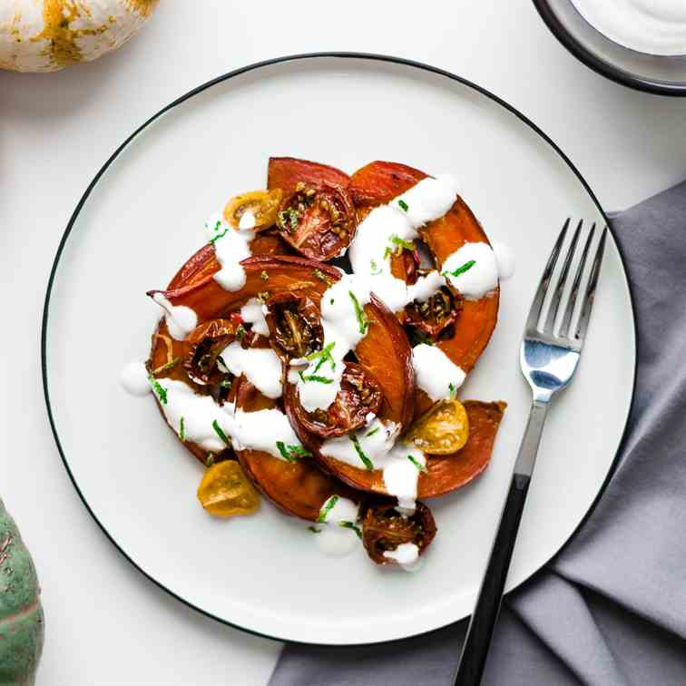 Butternut Squash with Ginger Tomatoes