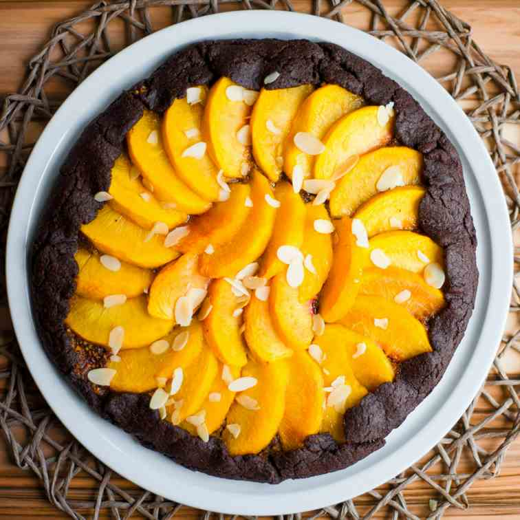 Decadent Peach Chocolate Galette