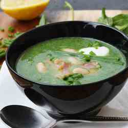 spinach, bean & bacon soup