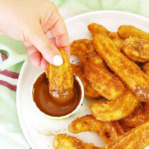 Homemade Cinnamon Churros with Nutella Sau