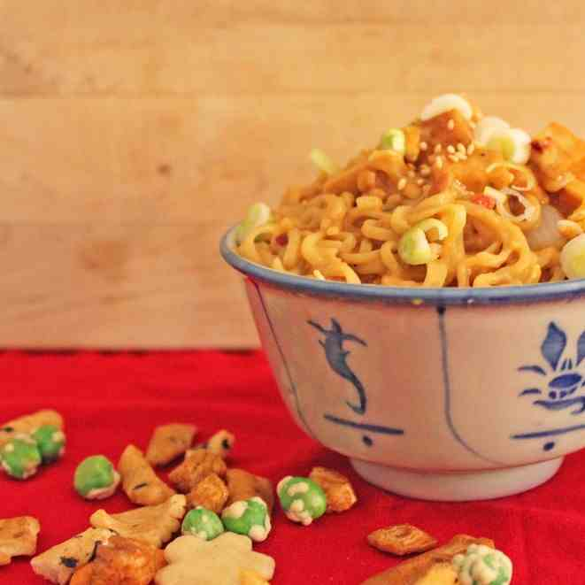 Spicy Asian Peanut Butter Noodles