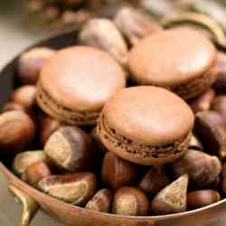 Chocolate Chestnut Macarons